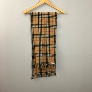 Vintage Burberry Nova Check Wool Scarf